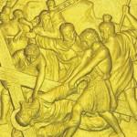 9 Иисус в третий раз падает под тяжестью Креста